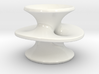 Costa's Minimal Surface in Porcelain 3d printed