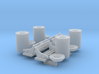1/48 PT Boat Depth Charge w/ Rack Set001 3d printed