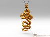 Kundalini Serpent Pendant 4.5cm 3d printed Pendant cord not included