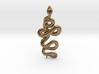 Kundalini Serpent Pendant 4.5cm 3d printed