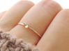 Sprout Ring (Multiple Sizes) 3d printed Sprout Ring in Polished Bronze