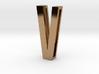 Choker Slide Letters (4cm) - Letter V 3d printed