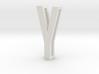 Choker Slide Letters (4cm) - Letter Y 3d printed