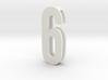 Choker Slide Letters (4cm) - Number 6 or Number 9 3d printed