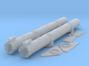 1/24 Torpedo Tubes (forward pair) for PT Boats 3d printed