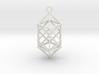 Hyperdiamond projection of 24 cell Octoplex 60mm 3d printed