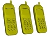 1/15 scale Nokia cell phones x 3 3d printed
