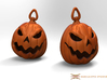 Jack O'lantern Earrings 2.5cm 3d printed These earrings require earring hooks, which are not included...