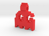 8-bit Ghost from Pac-Man Pendant 3d printed