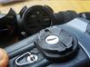 Garmin eTrex to quarter turn adapter 3d printed The adapter mounted onto the Garmin eTrex