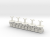 S Scale Round Tables x5 and Chairs x20 3d printed