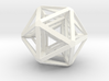 Icosahedron x 3 3d printed