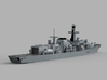 1/2000 HMS Iron Duke 3d printed Computer software render.The actual model is not full color.