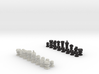 3D Pixel Chess Pieces - Classic Black & White 3d printed
