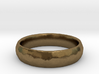 Beaten Ring 03 - Size 9 - 5.25mm wide 3d printed