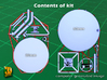 Satellite dish (30+60mm) - combo 3d printed Satellite combo (30+60mm) - parts on frame