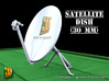 Satellite dish (30+60mm) - set 3d printed Satellite dish set (2x30mm+60mm) - 30mm
