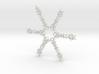 Alexander snowflake ornament 3d printed