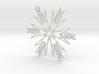 Ava snowflake ornament 3d printed