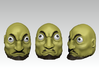 Kashira A - Spirited Away 3d printed Images shows Head A, B & C