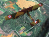 Caudron G.6 3d printed Painted miniature photo courtesy Ray G. (http://skilllevelzero.blogspot.com/)