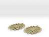 sunflower earrings 3d printed