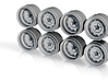 Porsche Steel Spare Rims 8-6 3d printed