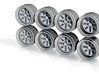 AME Turbo 8-6 Hot Wheels Rims 3d printed