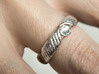 Ring T1A 3d printed With leaf silver and a crystal