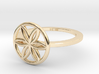 Flower of Life Ring, Size 4.5 3d printed