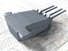 "1/400 Richelieu 380mm 15"" Guns 1943 w. Blast Bags 3d printed 3d render showing Turret I detail"