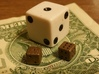 Tiny Metal Dice Set - Micro D6 3d printed D6 Tiny Dice made with Polished Bronze Steel