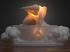 The Ancient of Days Lamp Statuette 3d printed White Plastic with LED lamp example (lights not included/ Stand sold separately see links below)