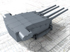 "1/700 Dunkerque 330 mm/50 (13"") Model 1931 Guns 3d printed 3d render showing Turret I detail"