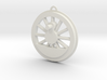 Steam Locomotive Drive Wheel Christmas Ornament 3d printed