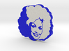 Dolly Parton in Blue 3d printed