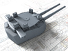 "1/600 HMS Vanguard MKI* 15"" Guns 3d printed 3d render showing B Turret detail"