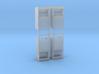 Altkleidercontainer 4er Set 1:100 3d printed