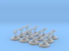 6x Clone Pilots 6x Droid Pilots (1/270) 3d printed