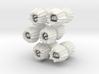 Barnacles, small, set of 12 3d printed