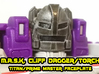 Cliff Dagger Torch Mask (Titans Return) 3d printed Hand painted Fud