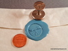 Telescope Wax Seal 3d printed Penny for scale