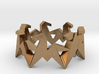 Origami Geometric Horse Ring Sizes 6-10 3d printed