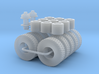 M1070 Wheels tires Winch 1/64 3d printed
