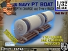 1/32 PT Boat Depth Charge w/ Rack Set001 3d printed