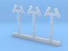 Smoke Jack Roof Vents HO Scale 3d printed