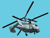 1/1800 Russian Navy aircraft set No.2 3d printed Kamov Ka-27PL.Computer software render.The actual model is not full color. Not exactly same for 1/1800 model.