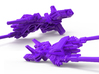 SixShot in Weapon Mode 3mm Weapon (Legion scale) 3d printed This render represents the 2.5in 5mm version of this piece, the proportions of the peg may vary.