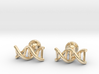 DNA helix cufflinks 3d printed
