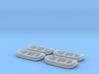 12ft White water raft 01.N Scale (1:160) 3d printed